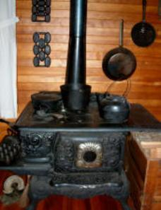 Wood stove circa 1865.